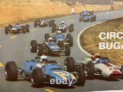 Rare Original Race Original Race Auto Grand Price Acf 1967 The Mans Race Poster