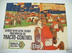 Renault Original Poster Tractor Post Estafette Goelette 1960 1970