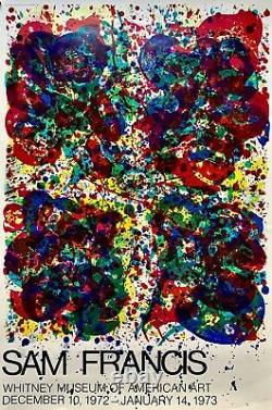 Sam Francis Whitney Museum Of American Art Dec. 1973 Affiche Original Poster Us