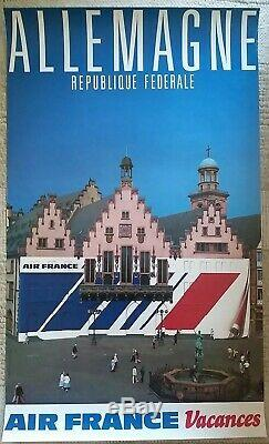 Set Of 16 Old Tourist Posters France / Original Travel Posters From 1940 To 1980