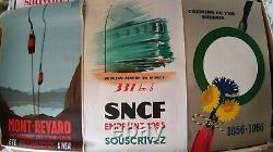 Set Of 7 + 3 Old Posters / Original Travel Posters Plm Sncf Revard 1930-1960