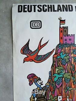 Ski Pinup Deutschland Mit Bahn Old Posters / Plakate 70 Original Posters