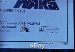 Star Wars IV Poster 68x104cm Us Bootleg Original Post One Sheet 2741