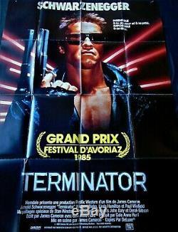 Terminator Poster 120x160cm Original Post One Sheet Schwarzenegger 47 63