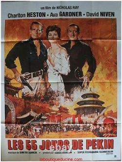 The 55 Day Of Pekin Original Movie Poster / Movie Poster Charlton Helston