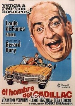 The Corniaud Entoilée Original Poster (gérard Oury / Louis De Funes, Bourvil)