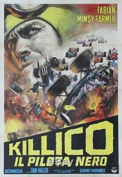 The Wild Racers Italian Original Poster Entoilée (roger Corman)