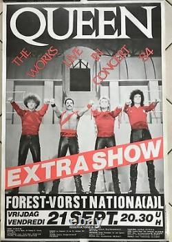 The Works Queen Live In Concert 1984 Original: 70x100cm Poster / Post