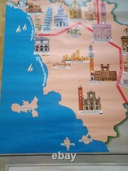 Tourist Poster Travel Original Poster Original Italy Tuscany