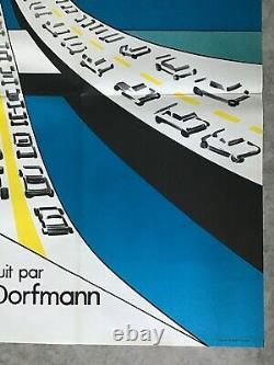 Traffic Movie Poster 1971 Jacques Tati Ferracci Original Movie Poster