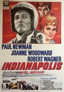 Turns (winning) Italian Original Poster Entoilée (paul Newman)