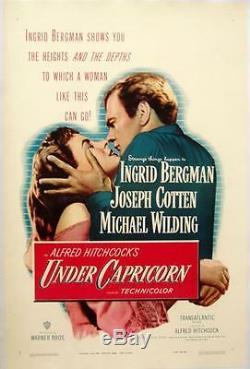Under Capricorn 1949 Original Poster Displays Hitchcock Bergman Cotten