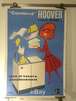 Vintage Poster Hoover Original Post By Fix Masseau Entoilée 83x123