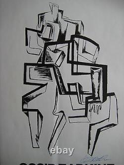 Zadkine Lithographic Poster 1966 Signed Ink Lithographic Handsigned Poster