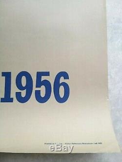 1856-1956 Chemins de fer suédois/Sweden Affiche ancienne /original poster