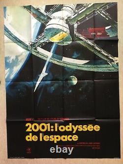 2001 L'ODYSSEE DE L'ESPACE / Affiche Cinéma 1972 Original French Movie Poster