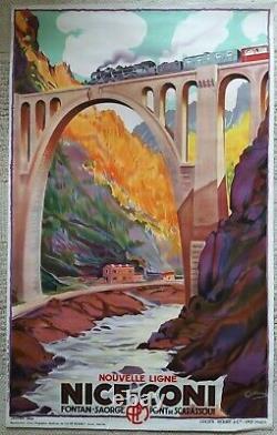 7 repro affiches anciennes/original posters train railways Provence PLM