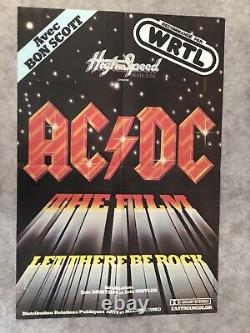 AC/DC Let there be rock Affiche Cinéma 1980 Original Movie Poster Angus Young