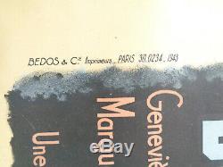 AFFICHE ANCIENNE Cinéma DONNE MOI TES YEUX Sacha Guitry Film Original Poster
