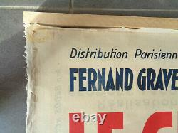 AFFICHE ANCIENNE Cinéma LE GRAND REFRAIN Mirande Film Original Movie Poster