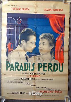 AFFICHE ANCIENNE Cinéma PARADIS PERDU par ABEL GANCE Film Original Movie Poster