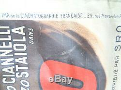 AFFICHE ANCIENNE Cinéma VULCANO Anna Magnani 120x160 Film Original movie Poster