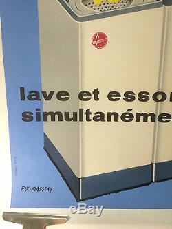 AFFICHE HOOVER Original VINTAGE Poster by Fix MASSEAU Entoilée 83X123