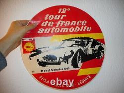 AFFICHE autocollant TOUR DE FRANCE AUTOMOBILE 1962 originale 40 cm