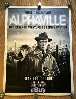 ALPHAVILLE GODARD Affiche originale 120x160 French Grande Poster. Mascii. RARE