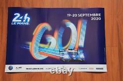 Affiche 24 heures du Mans 19/20 septembre 2020 (Originale et neuve)
