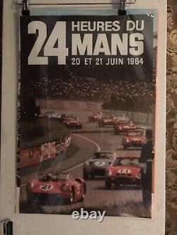 Affiche 24 heures du Mans 1964 Originale