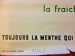 Affiche Ancienne PIPPERMINT GET 27 Original Vintage Poster de 1950 by De PLAS