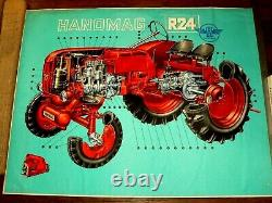 Affiche Ancienne TRACTEUR HANOMAG R24 Tractor Traktor Trattore Poster Old