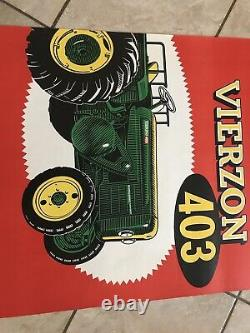 Affiche Ancienne Tracteur VIERZON An 50 Litho Tractor Traktor Poster Agriculture