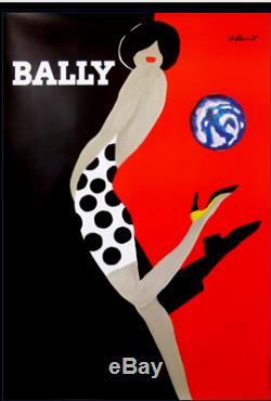 Affiche B. VILLEMOT Original Vintage Poster de 1980 BALLY BALLON 118X168