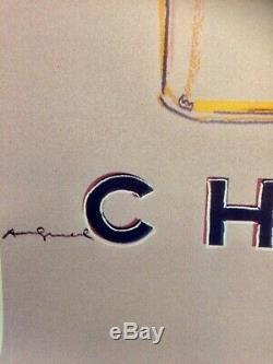 Affiche CHANEL N° 5 par ANDY WARHOL Original Vintage Poster de 1997 Entoilée
