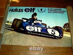 Affiche Championnat Monde F1 Jackie STEWART Huile ELF Sport Car Auto Poster