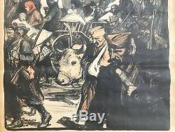 Affiche Charles Fouqueray 1916 La Journée Serbe Original 1916 French Poster
