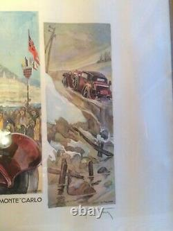 Affiche Géo Ham Rallye International Monte-carlo 193233 34 Litho Illustré