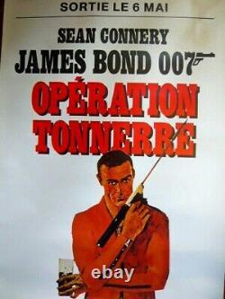 Affiche James Bond Opération Tonnerre Movie poster Thunderball 1965 Ed Originale
