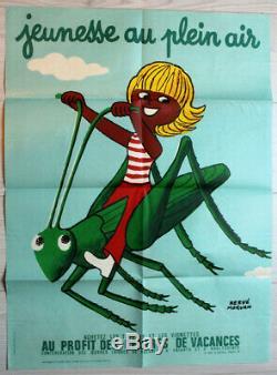 Affiche Jeunesse Au Plein Air Hervé Morvan 1973 Original vintage poster