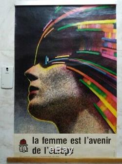 Affiche La femme est l'avenir de l'europe ROMAN CIESLEWICZ ORIGINAL 1978 POSTER