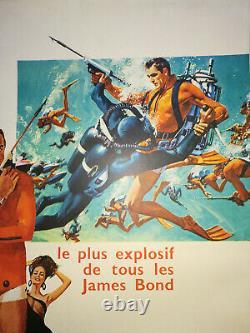Affiche OPERATION TONNERRE Originale Entoilée 1965 60x80 THUNDERBALL Poster