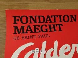 Affiche Original Poster Alexander CALDER Fondation Maeght Saint Paul 1969