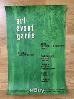 Affiche Original Poster Art avant garde Paris 1960 J. Polieri Le Corbusier
