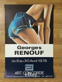 Affiche Original Poster Georges RENOUF Galerie Art Concorde Paris 1976