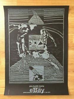 Affiche Original Poster John-Franklin KOENIG Galerie Arnaud Paris 1974