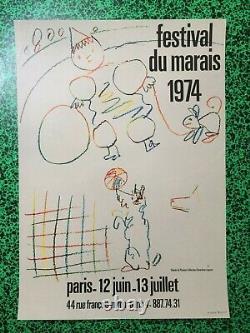 Affiche Original Poster Pablo PICASSO Festival du Marais 1974