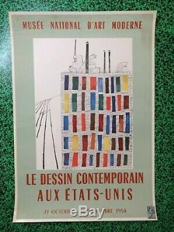 Affiche Original poster Ben Shahn Le dessin contemporain aux Etats-Unis 1954