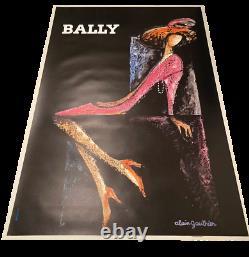 Affiche Originale Alain Gauthier Bally La Femme 1970 Retro Vintage Poster